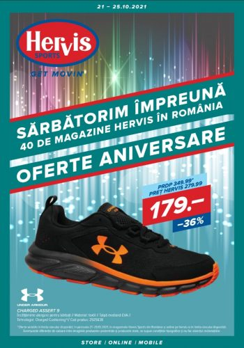 Catalog Hervis 21 octombrie - 25 octombrie 2021