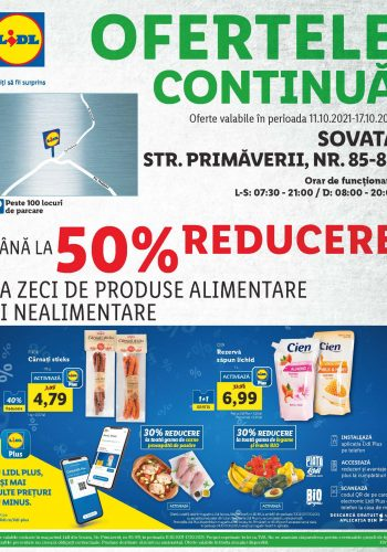 Catalog Lidl 11 octombrie - 17 octombrie 2021 - Magazin Lidl Sovata