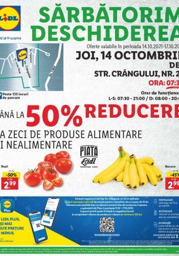 Catalog Lidl 14 octombrie - 17 octombrie 2021 - Deschidere magazin Lidl Dej