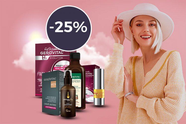 Oferta Farmec: 25% reducere la oricare 2 produse din promotie