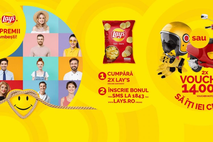 Auchan - Deschide Lay's. Poti castiga premii care te fac sa zambesti!