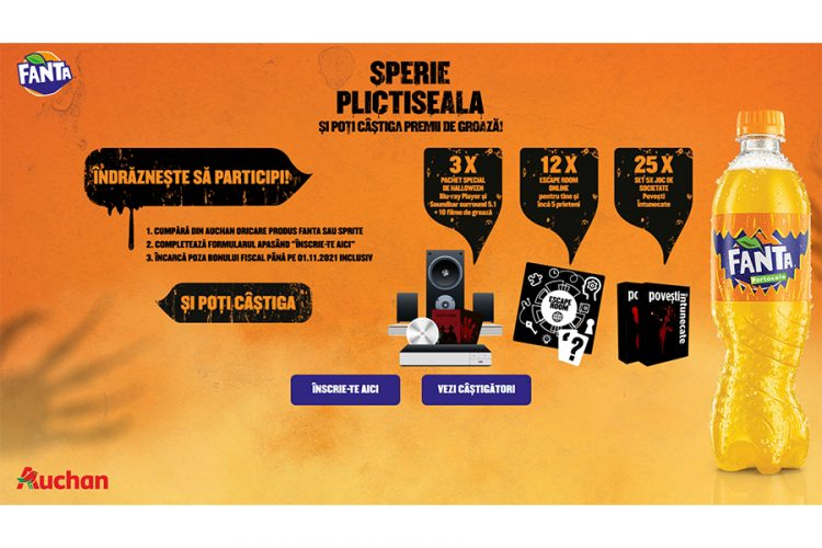 Auchan - Fanta - Sperie plictiseala si poti castiga premii de groaza
