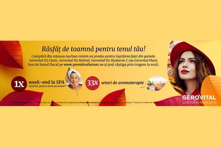 Auchan - Gerovital - Campanie aniversara Auchan - Castiga un weekend la SPA sau un set aromaterapie!