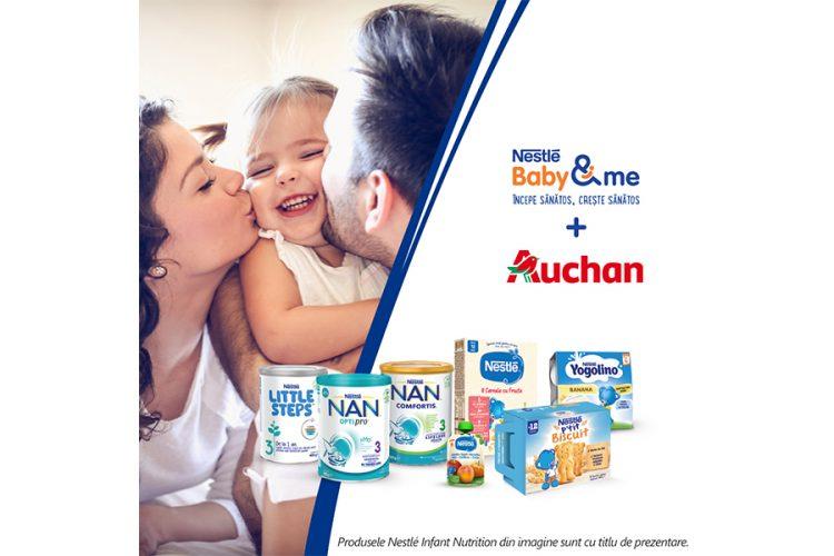 Auchan - Nestlé Baby & me - Castiga 250 lei sau marele premiu in valoare de 10000 euro!