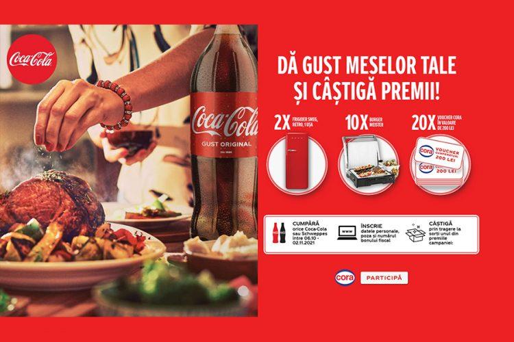 Cora - Cokescan Coca Cola - Da gust meselor tale si castiga premiile Coca-Cola!
