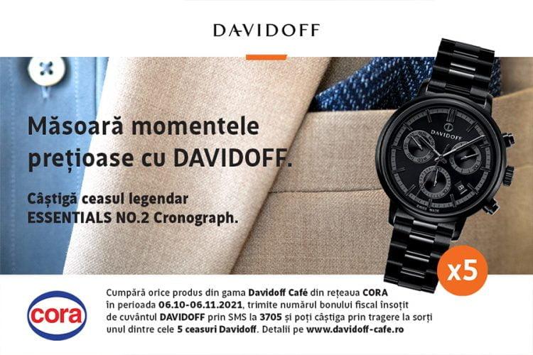 Cora - Masoara momentele pretioase cu Davidoff - Castiga un ceas Davidoff!