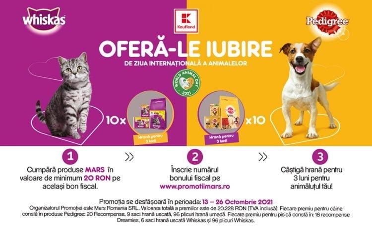 Kaufland - Mars - Ofera-le Iubire de ziua internationala a animalelor - Castiga hrana pentru animalutul tau!
