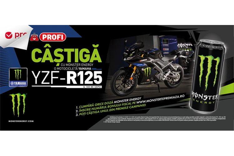 Profi - Monster Yamaha - Castiga o motocicleta Yamaha YZF-R125 sau o sapca Monster!